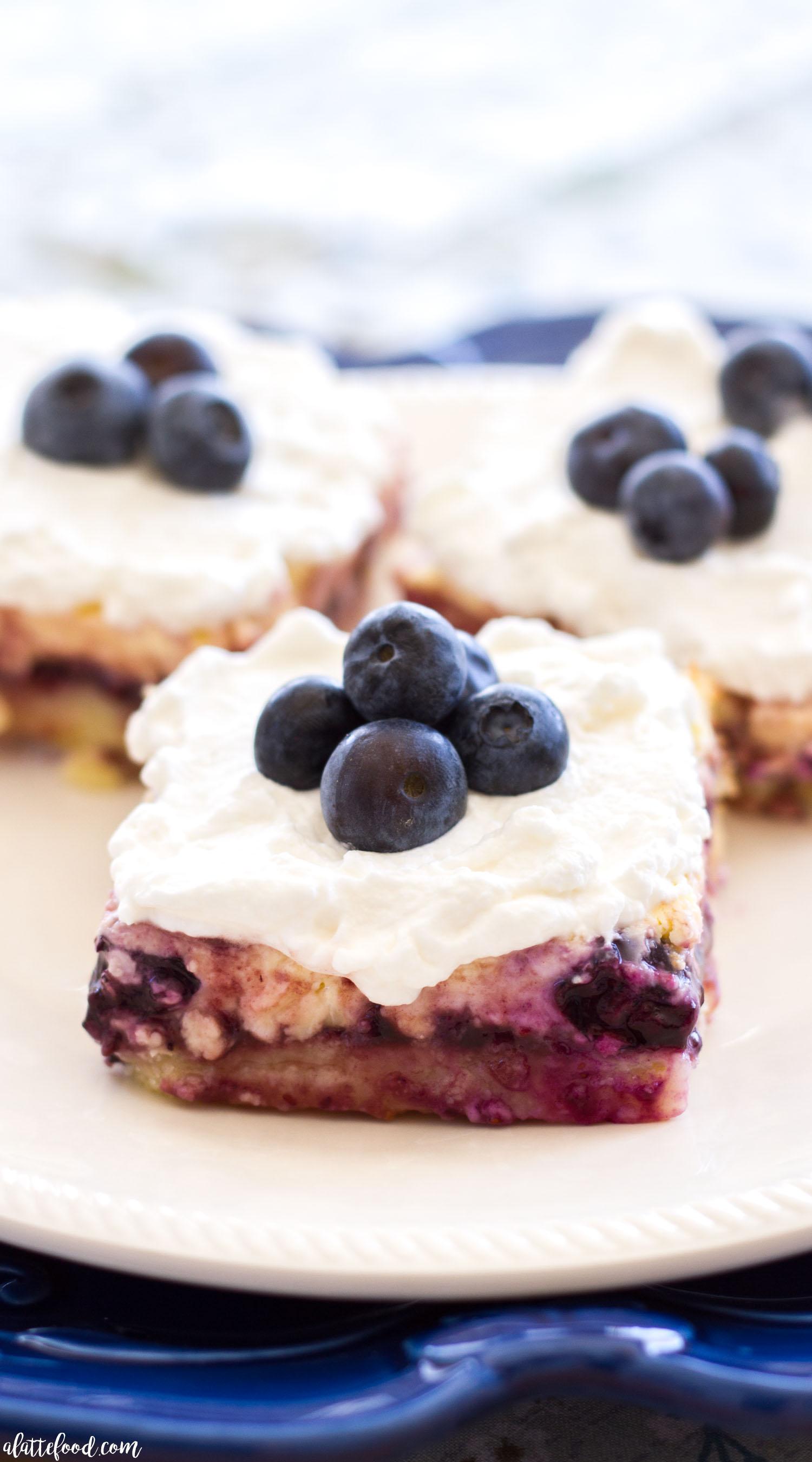 Lemon Blueberry Cheesecake Bars A Latte Food