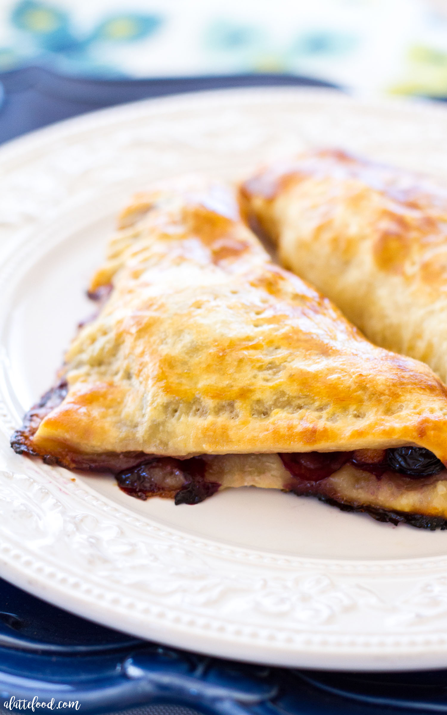 Peach Blueberry Turnovers - A Latte Food
