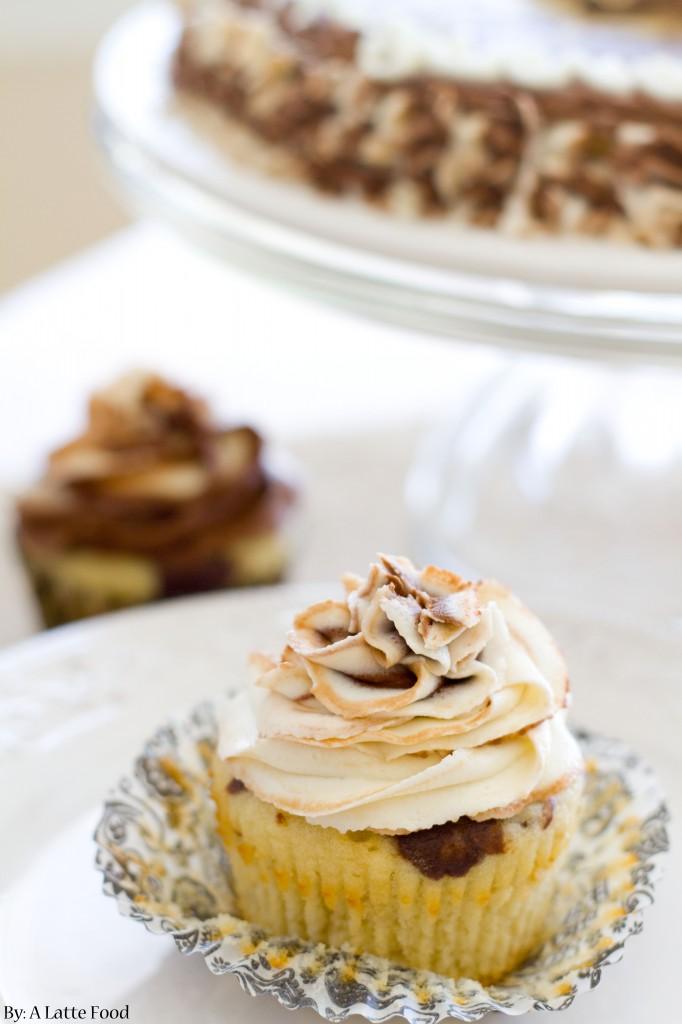 Chocolate Vanilla Marble Cupcakes | A Latte Food