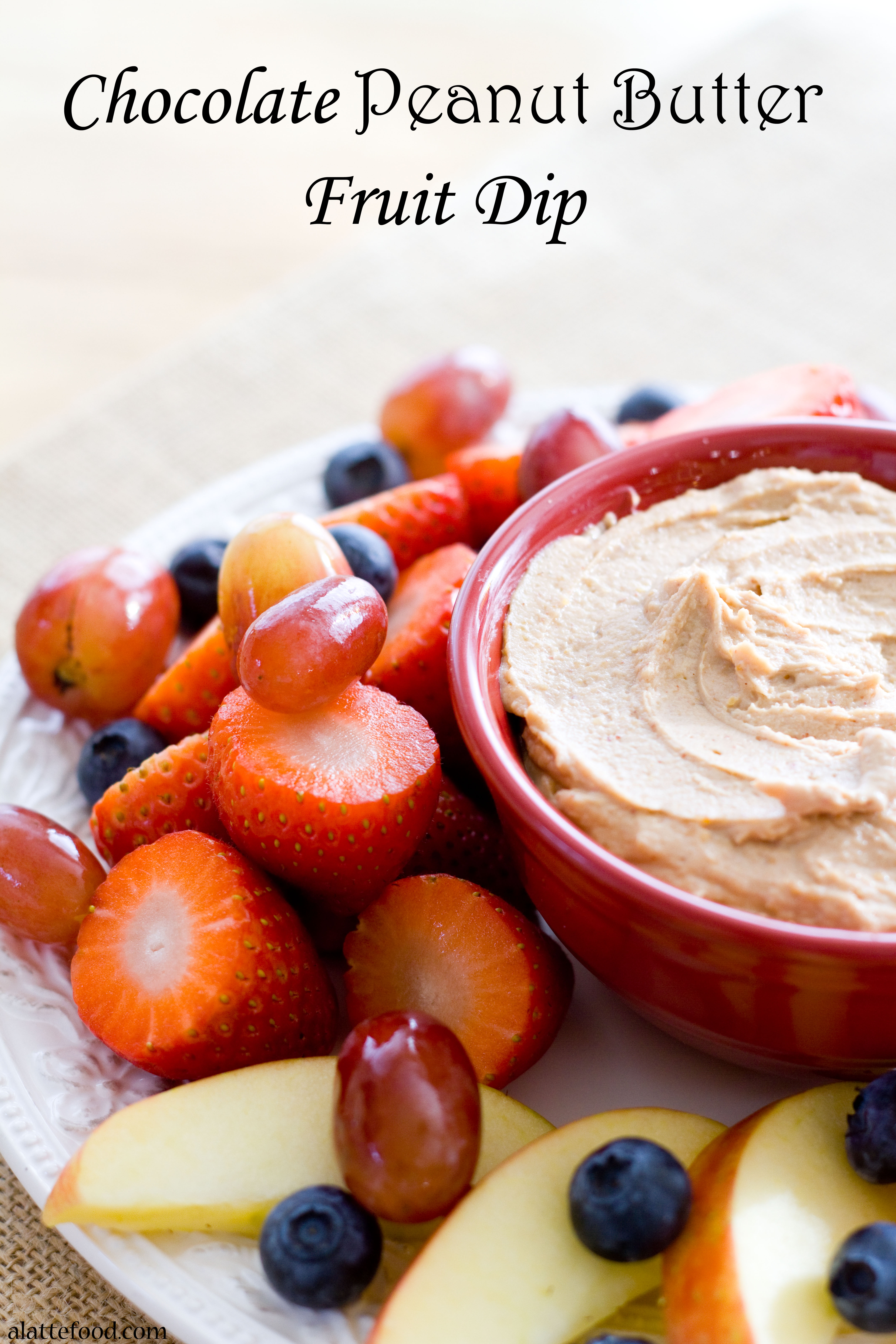 Healthy and Gluten-Free} Chocolate Peanut Butter Fruit Dip
