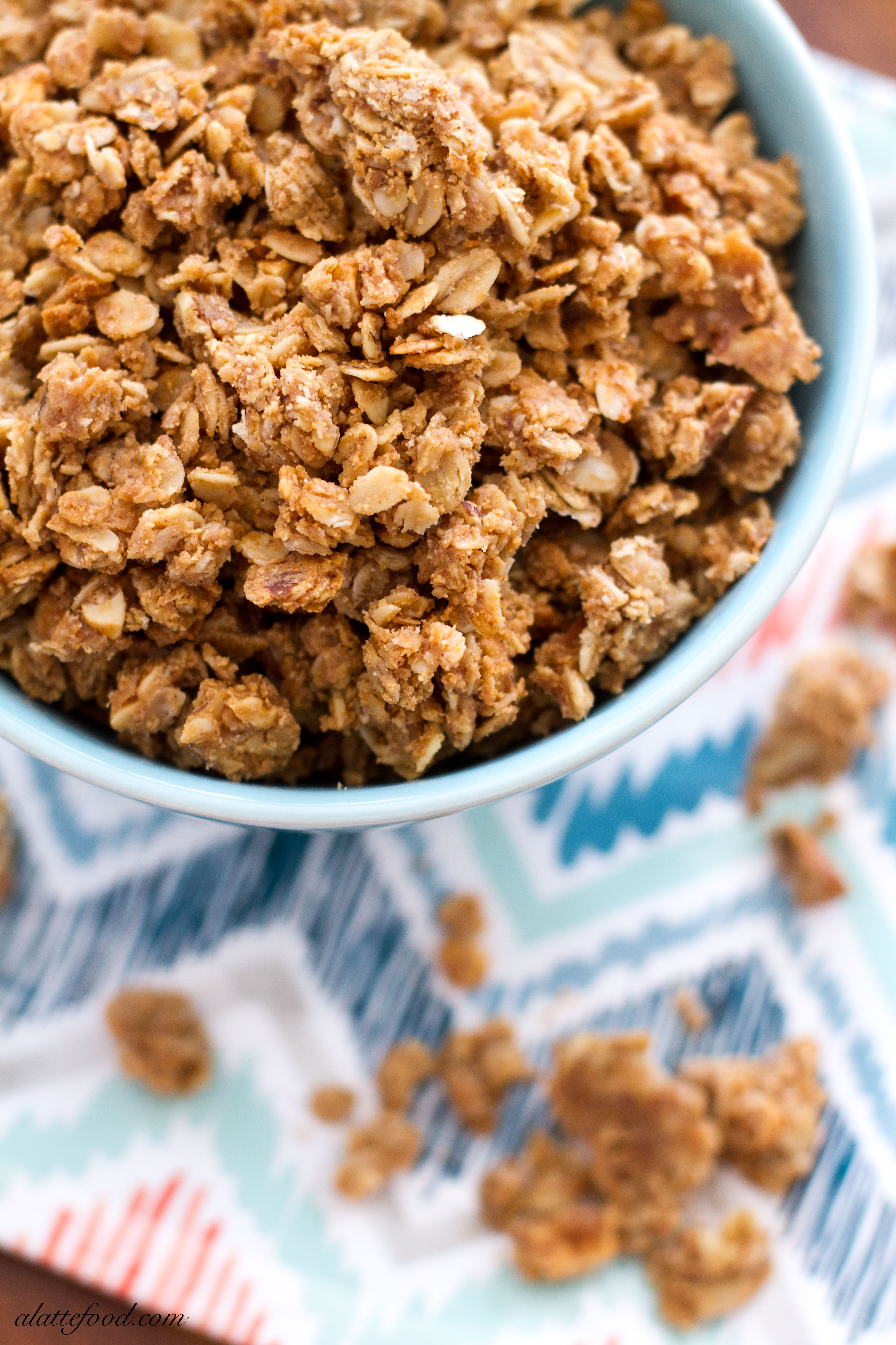 Easy} Crunchy Peanut Butter Granola A Latte Food