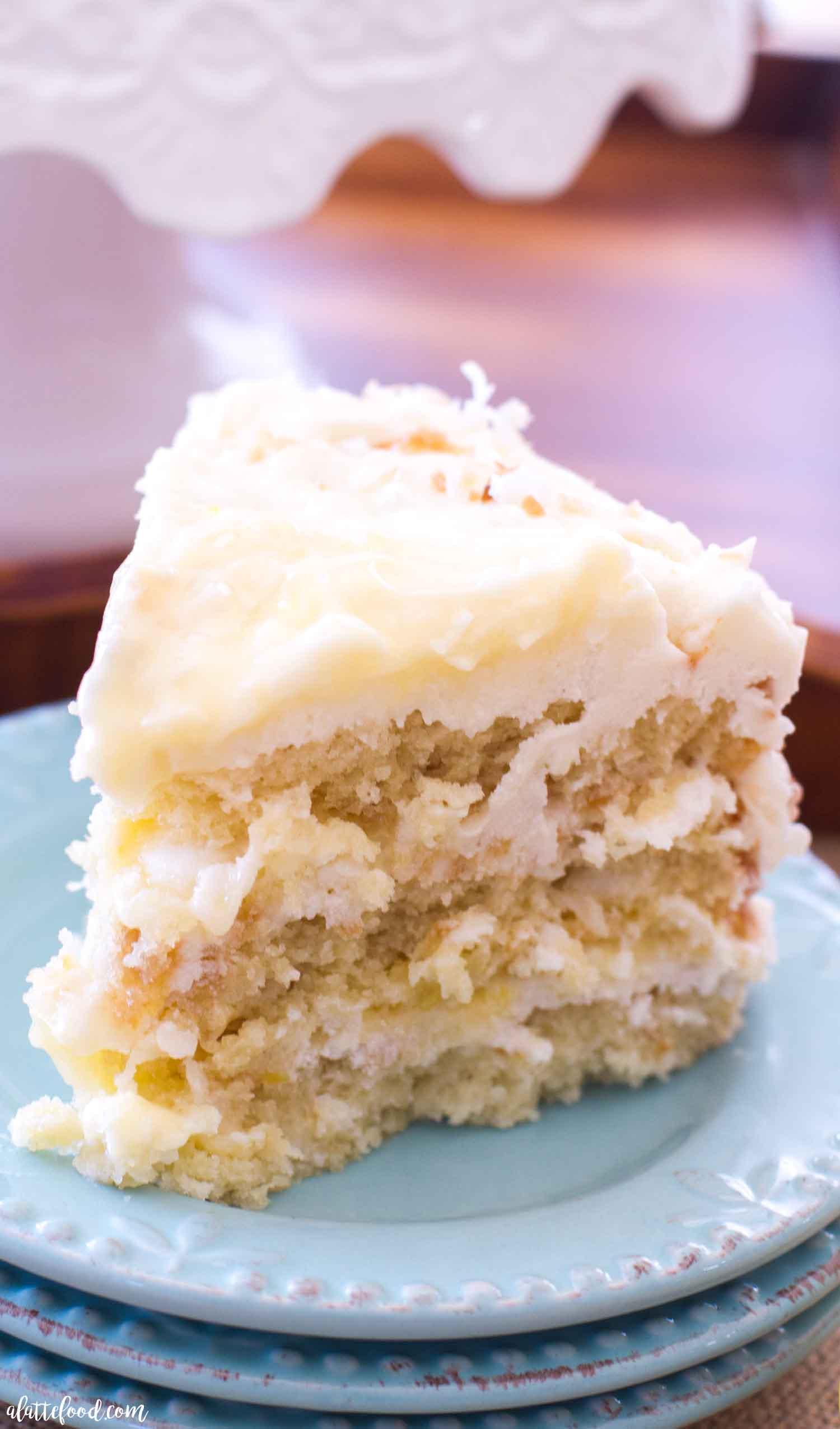 Swell Lemon Coconut Cake A Latte Food Personalised Birthday Cards Beptaeletsinfo