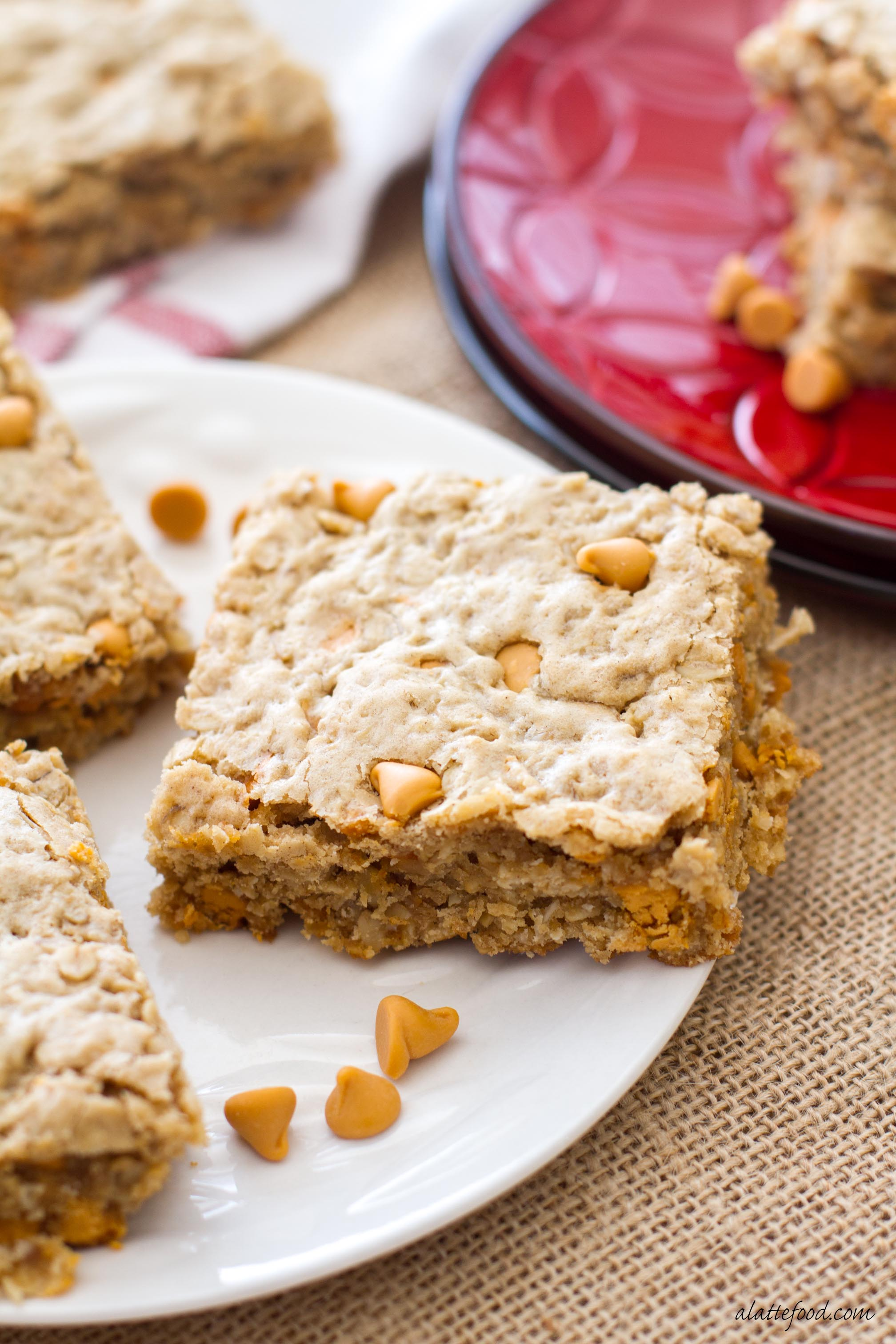 Maple butterscotch cookie bars a latte food for Bar food 62 pisa
