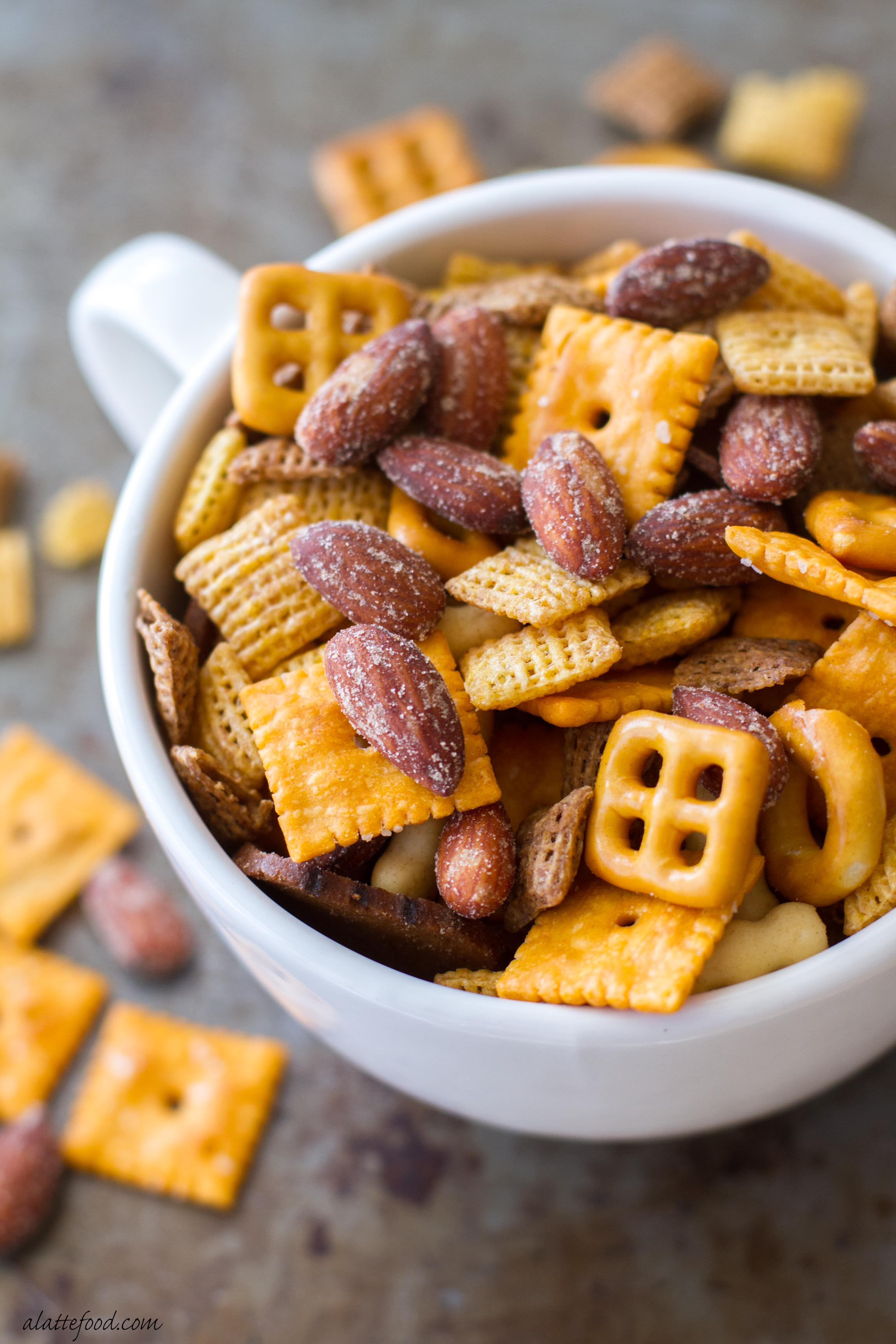 Barbecue Smokehouse Party Snack Mix A Latte Food