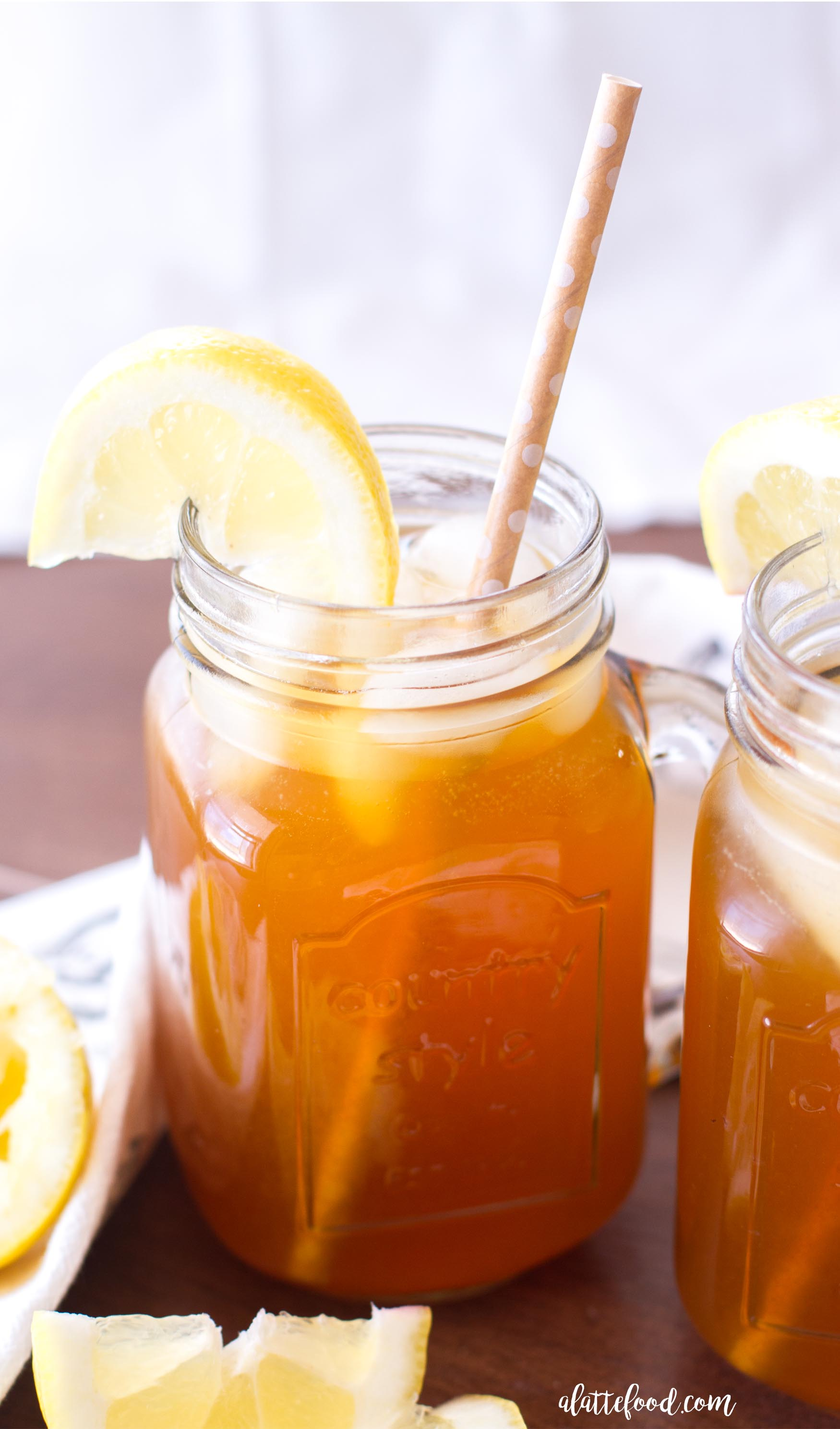 Apricot Lemon Iced Tea A Latte Food