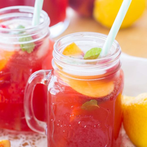 Peach Raspberry Iced Tea - A Latte Food