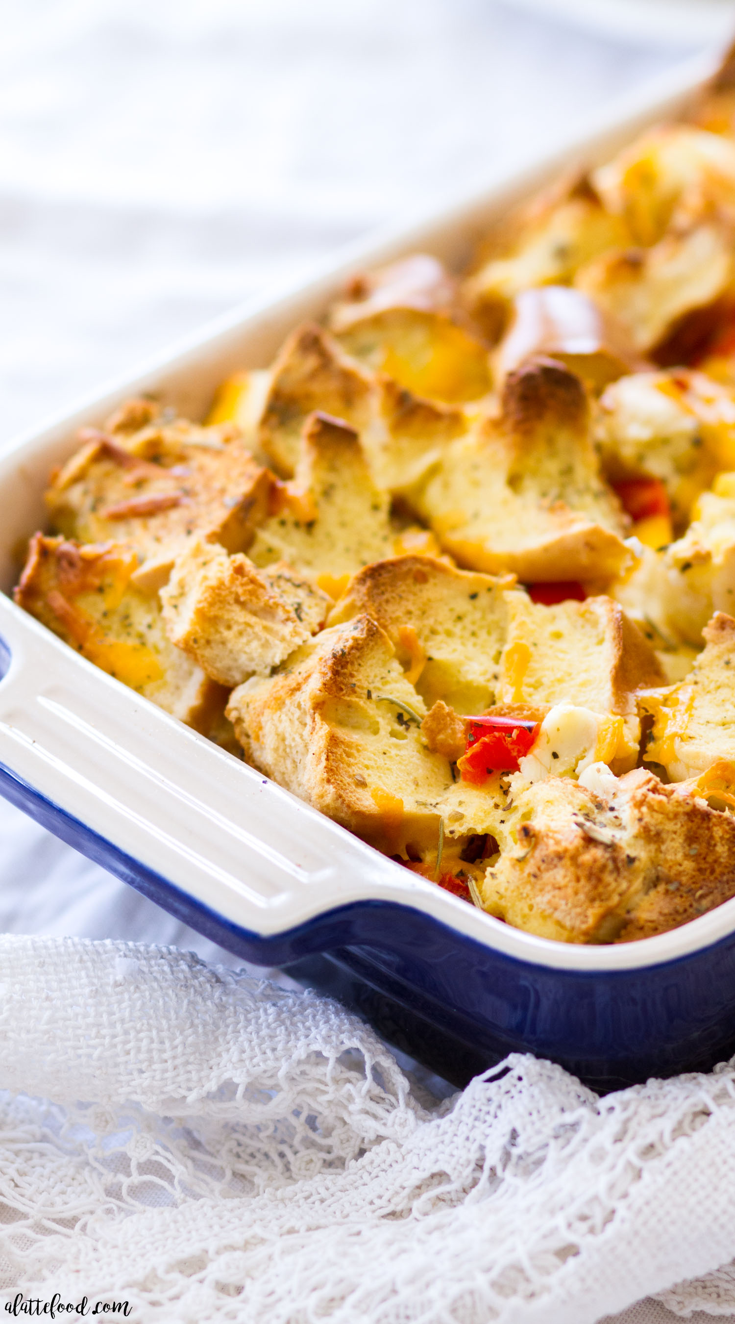 Savory Bagel and Cream Cheese French Toast Casserole - A ...