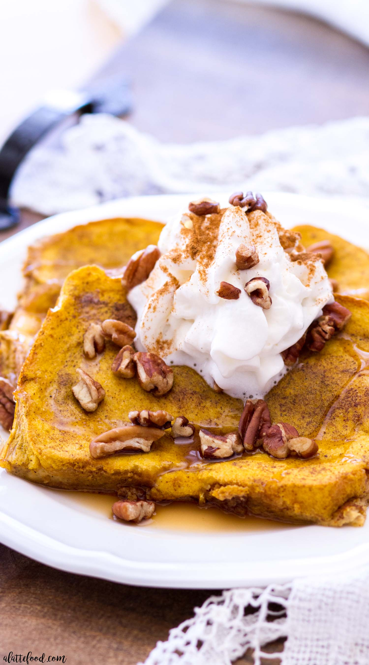 Baked Pumpkin French Toast - A Latte Food