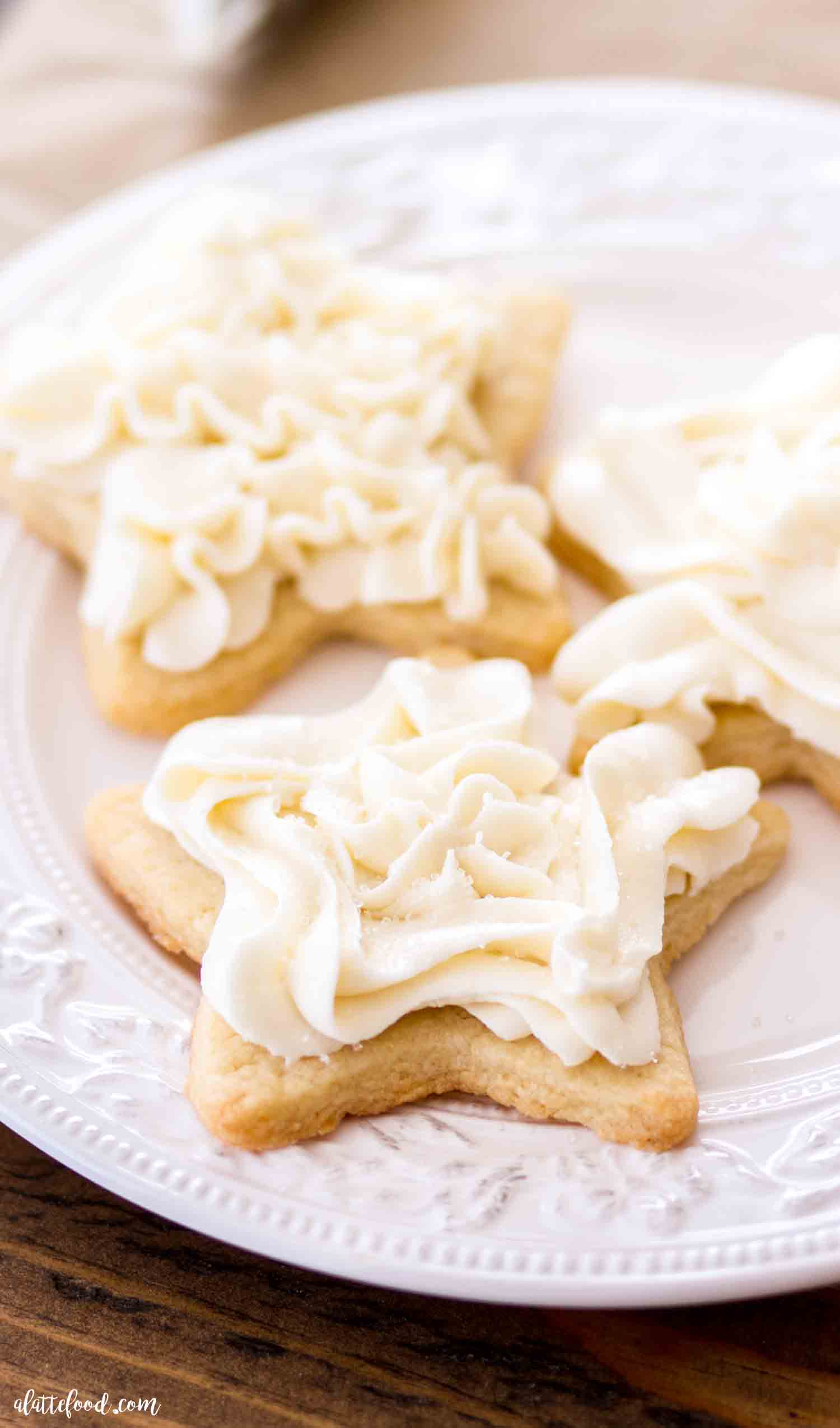Easy Sugar Cookie Frosting Vanilla Buttercream A Latte Food