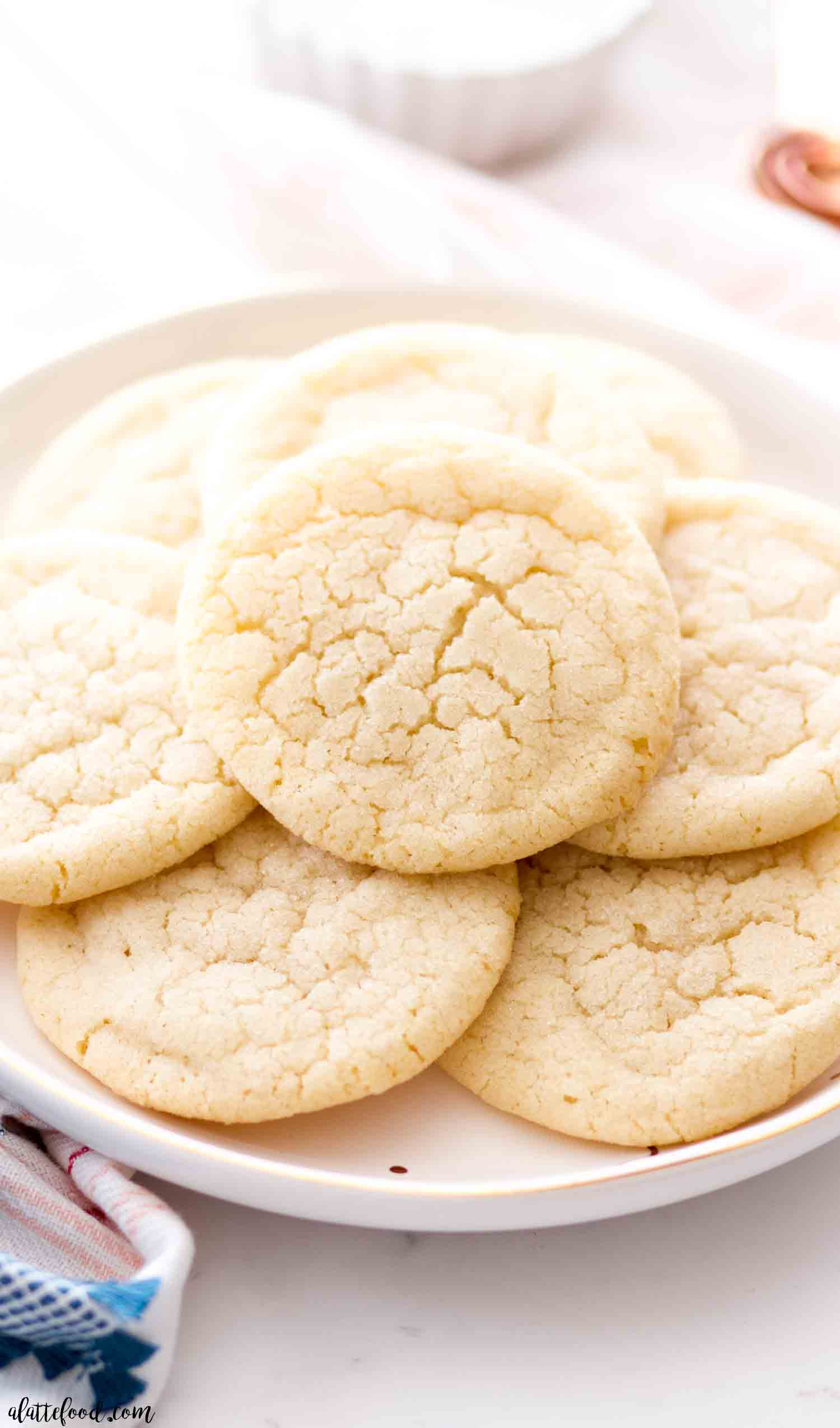 Chewy Sugar Cookies - A Latte Food
